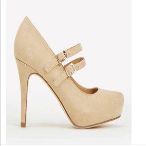JustFab Rayna Size 5.5 heels (nude)